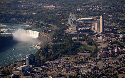 Niagara Falls, Horseshoe Falls, looking at Canada and the Fallsview District