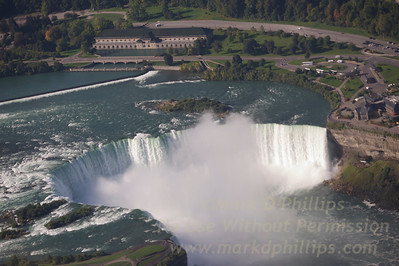 Niagara Falls, Horseshoe Falls, looking at Canada and the Niagara Parks Commission