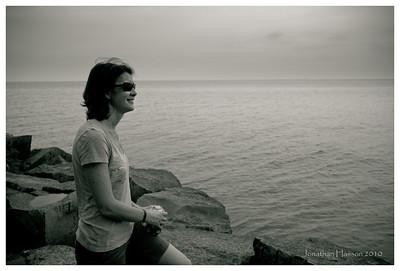 My bride and Lake Ontario.