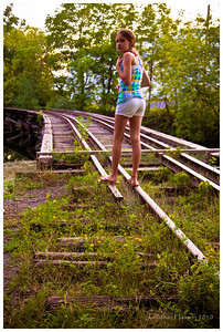 Along with the abandoned factories come the abandoned rail lines.  This one was a bit too decrepit for our liking.