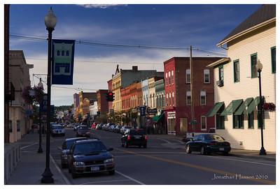 Downtown Penn Yan, New York.  Cute little town on Keuka Lake.