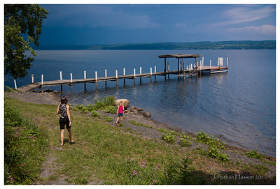 Boat dock at Miles Winery on Seneca Lake, NY.  We had some storms brewing to the north.