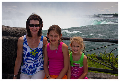 The gals at the Canadian falls in Niagara.