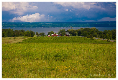 The area around the Finger Lakes is quite amazing.  Vineyards, farms and estates all running down to the lake.