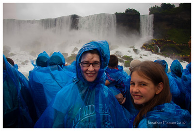 What better thing to do on a wet rainy day but continue to get wet!  If you do go to Niagara, you must ride The Maid of the Mist boat tours.  The boats get your right up next to the falls, and you get VERY wet.