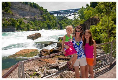 The Niagara Gorge was pretty impressive.  Those are class VI rapids behind us.  Intimidating and dangerous.