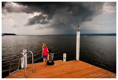 Seems to not be such a good idea to be out on the pier in the middle of the lake in the middle of a storm, huh?