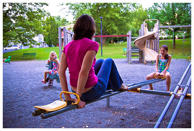 With two girls, you can never pass up a chance to play on a playground!  Penn Yan, NY
