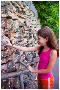"""""""Ooh, daddy, can we add our gum to the gum wall too?""""  Weird."""