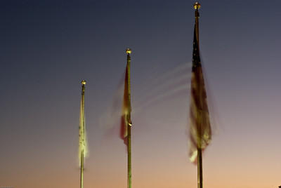 Time Lapse of Fluttering Flags