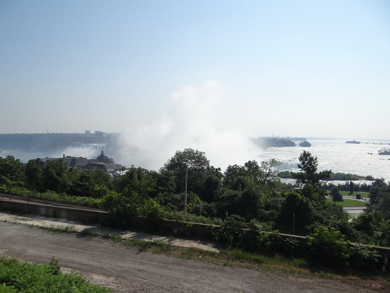 Our first view of the falls. We had parked the car on a road in Niagara Falls, Ontario and a short walk showed us this amazing view. This is the Horseshoe Falls on the Canadian side.
