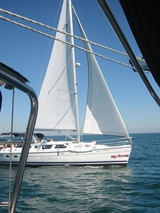 Sailing across Lake Ontario
