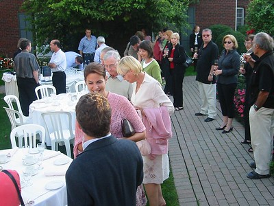 Evening reception in the Pillar and Post Rose Garden