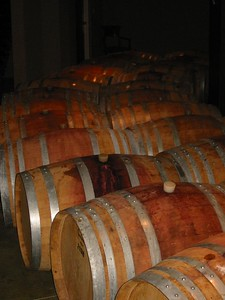 Barrels at Henry of Pelham Winery