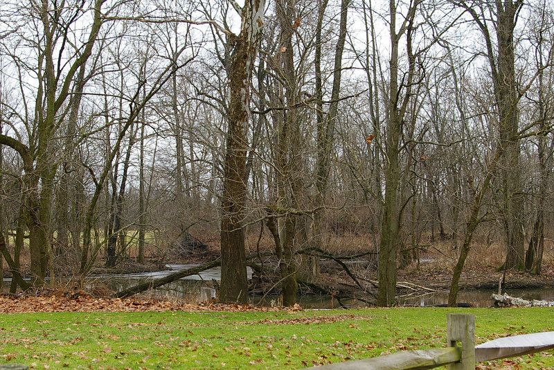 The park down the street from the Peter's house... where the big creek is.