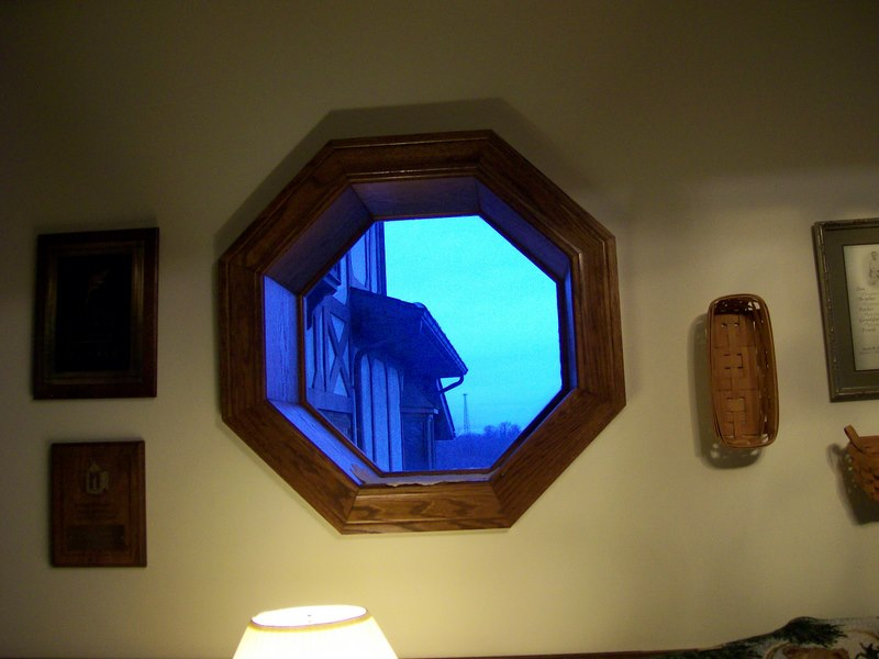 Thought it was a cool window.... almost like a ship portal