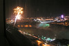 A good shot (from mom's little point & shoot) of the falls, the bridge and the fireworks).
