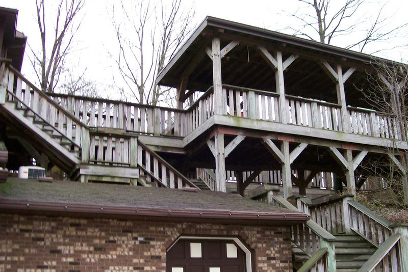 Back-side wrap around porch of the Inn