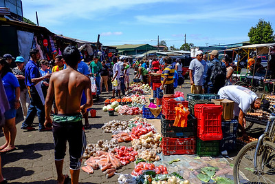 Busy market.