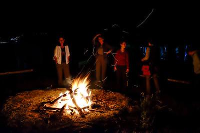 Cosy campfire.