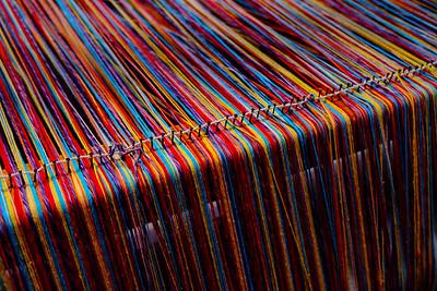 Beautiful colors, Telares indigenas de El Chile.