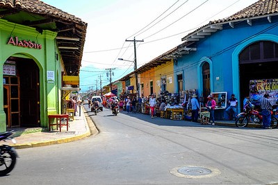 Colorful market area.