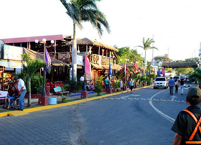 Shopping and restaurants.