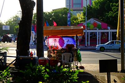 Street vendor, Managua.