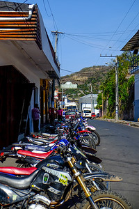 Motorcycle parking only.