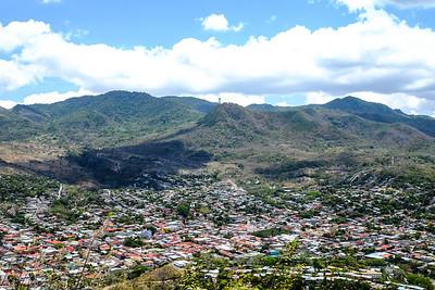 View across Matagalpa City Center to Cero de la Cruz.