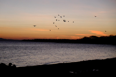 Sunset at Charco Verde Nature Reserve.Ometepe Island.