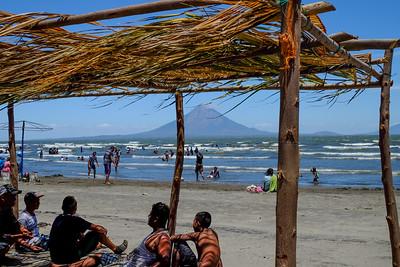 Popular beach.