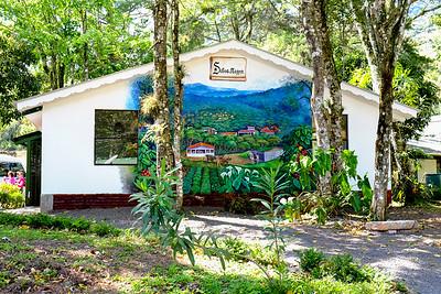 Wall art of the plantation.