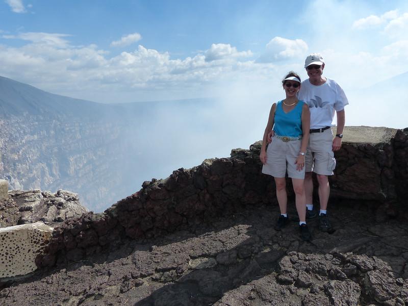 Craig and Jeane at Masaya Volcano