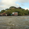 Rio San Juan - A view of El Castillo de la Concepcion (El Castillo) while passing through the rapids, Raudel del Diablo