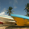 Big Corn Island - Boats hauled up on the west side of the island