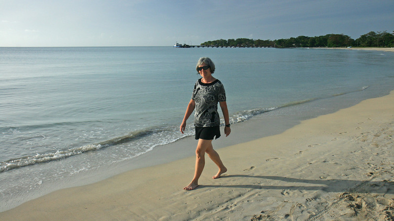 Big Corn Island - Walking the beach on the south side of the island