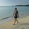 Big Corn Island - Walking the beach on the south side of the island