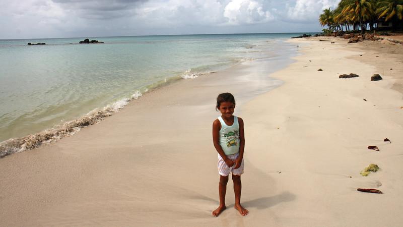 Big Corn Island - Local girl on the beach