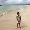 Big Corn Island - Local girl on the beach