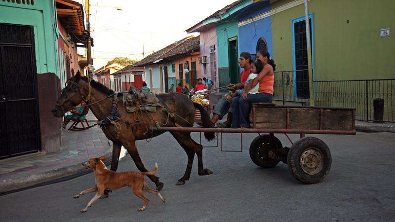 Granada - Street scene near Parque Colon