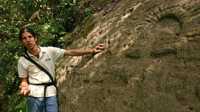 Montibelli - Alejandro with pre-Columbian petroglyphs