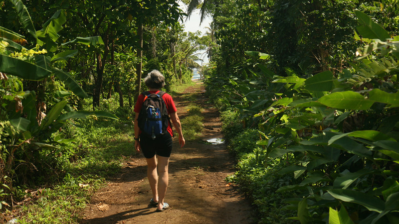 Big Corn Island - Hiking on the east side of the island