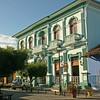 Granada - Colonial building at Parque Colon (Central Park)