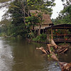 Rio San Juan - Back at Sabalos lodge , our riverside cabin in the background