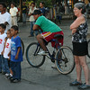 Nicaragua 2011: Granada - Watching traveling circus performers at Parque Colon