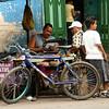 Nicaragua 2011: Granada - Street market tailor's shop