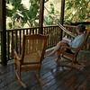 Nicaragua 2011: Montibelli - Jackie relaxing on the deck