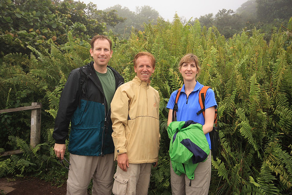 Spending Christmas Day hiking in the cloud forest with Rob, the owner of our B&B