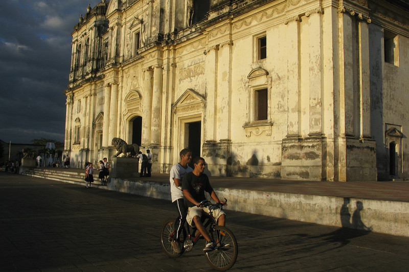 In front of La Catedral, at the magic hour